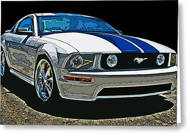 Samuel Sheats Greeting Cards - Ford Mustang GT Greeting Card by Samuel Sheats