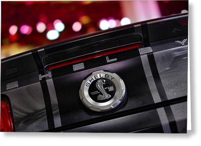 Carroll Shelby Greeting Cards - Ford Mustang Shelby GT500 Super Snake  Greeting Card by Gordon Dean II