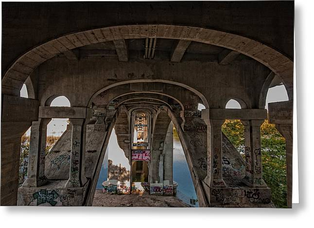 Ford Saint Paul Greeting Cards - Ford Parkway Bridge Greeting Card by Tom Gort