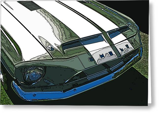 Samuel Sheats Greeting Cards - Ford Shelby GT500 Front View Greeting Card by Samuel Sheats