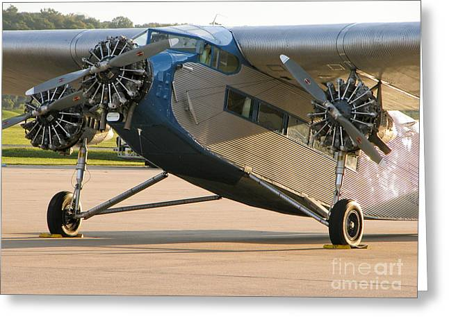Eal Greeting Cards - Ford Trimotor Greeting Card by Tim Mulina