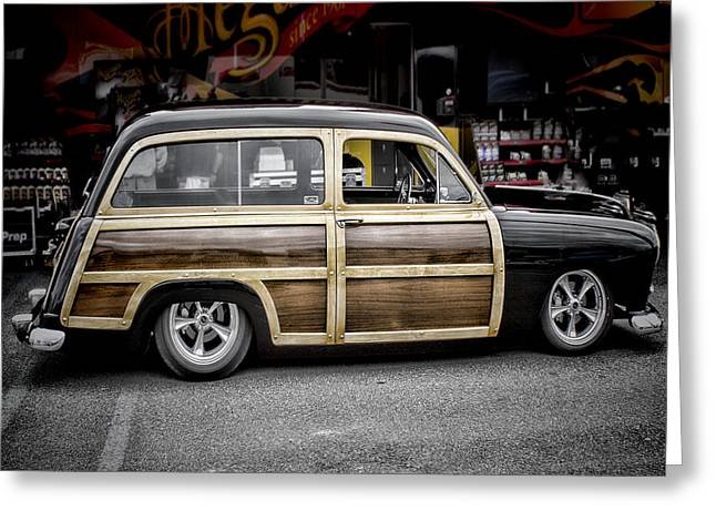 Ron Roberts Photography Greeting Cards - Ford Woody Wagon Greeting Card by Ron Roberts