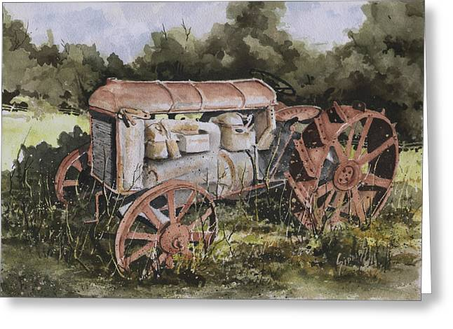Fordson Model F Greeting Card by Sam Sidders
