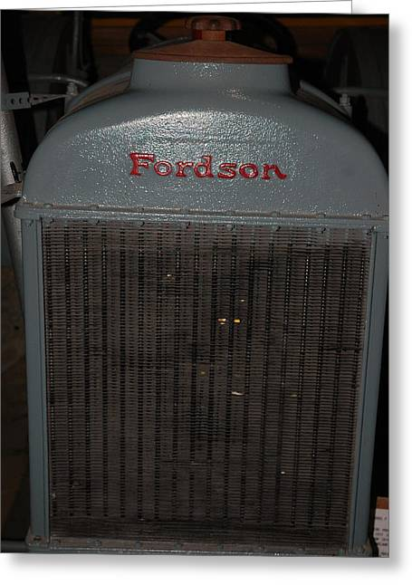 Coolant Greeting Cards - Fordson Radiator Greeting Card by LeeAnn McLaneGoetz McLaneGoetzStudioLLCcom