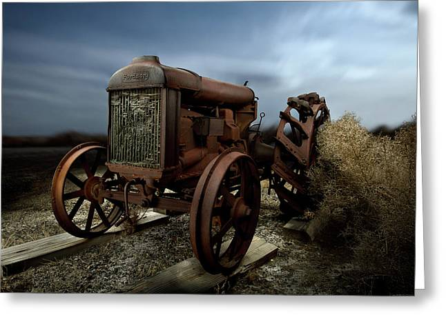 Rust Greeting Cards - Fordson Tractor Greeting Card by Yo Pedro