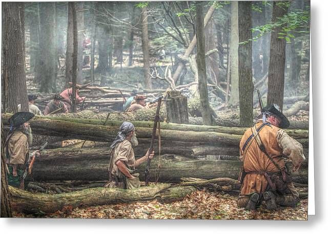 Woodsman Greeting Cards - Forest Ambush Greeting Card by Randy Steele