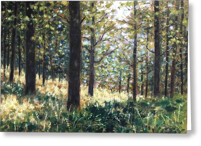 Landscape Posters Greeting Cards - Forest- County Wicklow - Ireland Greeting Card by John  Nolan