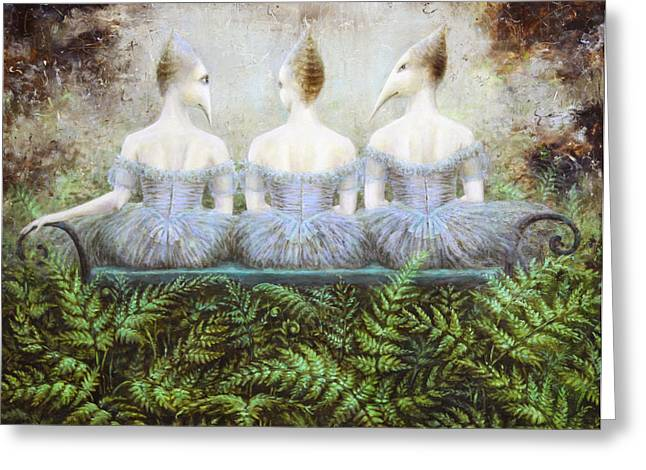 Birdman Greeting Cards - Forest Divas Greeting Card by Lolita Bronzini