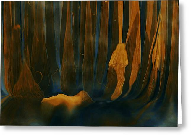 Abstract Expression Greeting Cards - Forest Dreams Greeting Card by Linda Sannuti