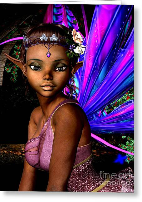 Hob Greeting Cards - Forest Fairy Greeting Card by Alexander Butler