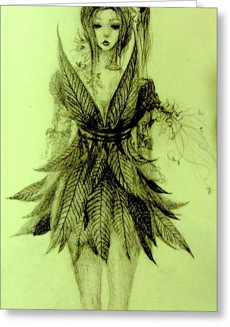 Pixy Greeting Cards - Forest Fairy Greeting Card by Melissa Cabigao