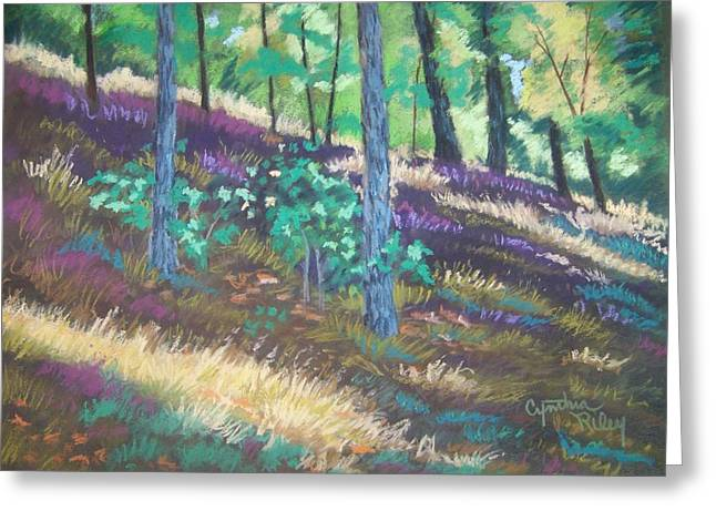 Forest Floor Pastels Greeting Cards - Forest Floor Greeting Card by Cynthia Riley
