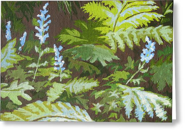 Forest Floor Paintings Greeting Cards - Forest Floor Greeting Card by Sandy Tracey