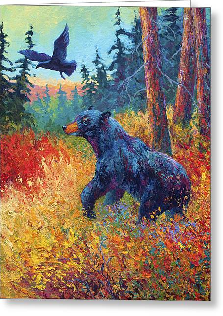 North America Greeting Cards - Forest Friends Greeting Card by Marion Rose