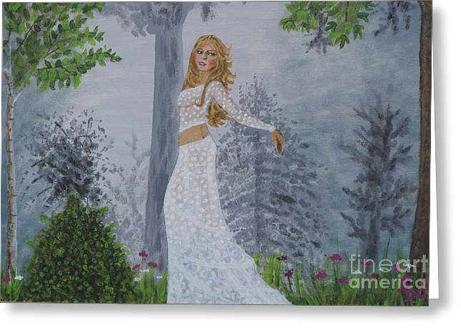 Shakira Paintings Greeting Cards - Forest Frolic Greeting Card by William Ohanlan