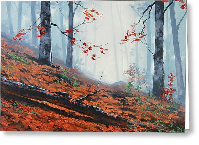 Fall Trees Greeting Cards - Forest Leaves Greeting Card by Graham Gercken