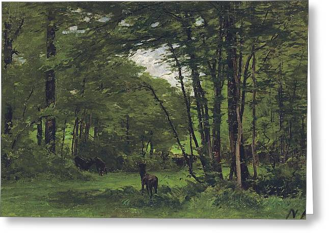 Fontainebleau Forest Greeting Cards - Forest of Fontainebleau Greeting Card by Nathaniel Hone