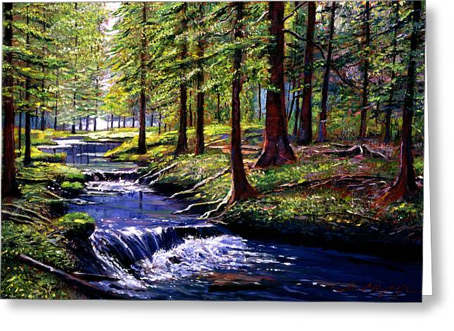 Vancouver Island Greeting Cards - Forest Waters Greeting Card by David Lloyd Glover