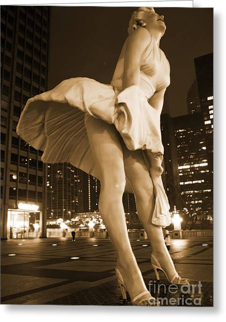 Magnificent Mile Greeting Cards - Forever Marilyn 3 Greeting Card by Christopher Purcell