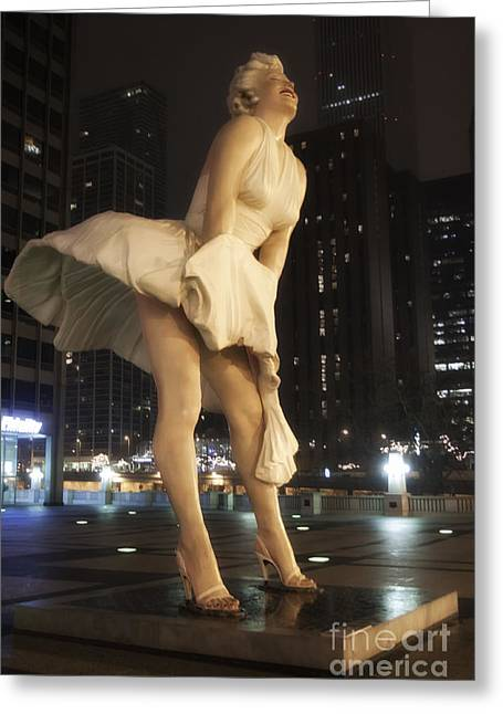 Magnificent Mile Greeting Cards - Forever Marilyn 6 Greeting Card by Christopher Purcell