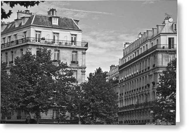 Famous Estates Greeting Cards - Forever Paris Greeting Card by Nomad Art And  Design