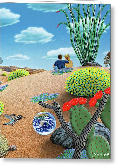 People Paintings Greeting Cards - Forever Yours Greeting Card by Snake Jagger