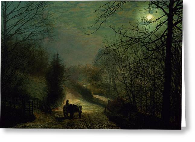 Forge Greeting Cards - Forge Valley Greeting Card by John Atkinson Grimshaw