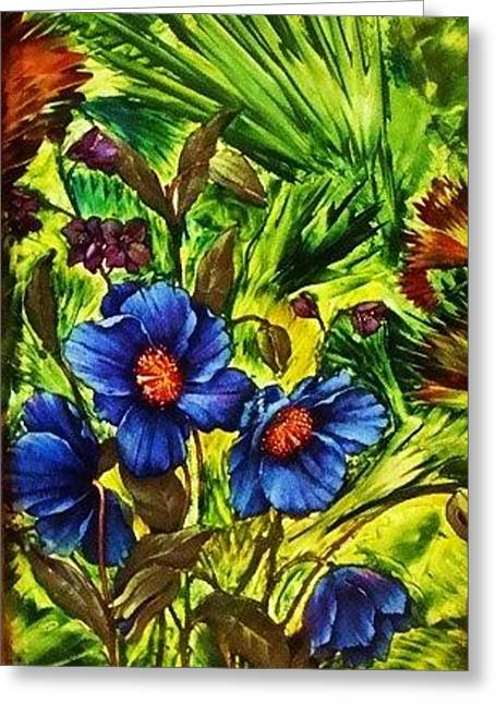 Forget-me- Greeting Card by Jeanne Mytareva