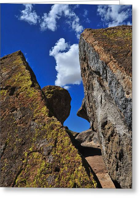 Cracked Stone Greeting Cards - Forget Your Perfect Offering Greeting Card by Skip Hunt
