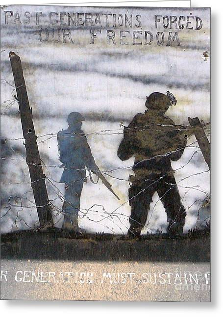 Iraq Conflict Greeting Cards - Forging of Freedom Greeting Card by Unknown
