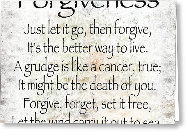 Forgiveness Digital Art Greeting Cards - Forgiveness Greeting Card by Andee Design