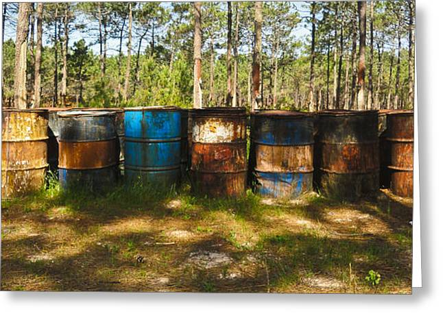 Nabucodonosor Perez Greeting Cards - Forgotten barrels Greeting Card by Nabucodonosor Perez