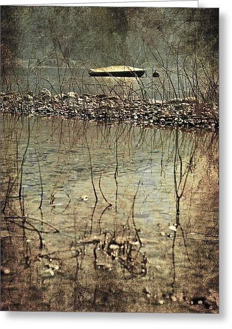 Rock Texture Greeting Cards - Forgotten Boat Greeting Card by Joana Kruse