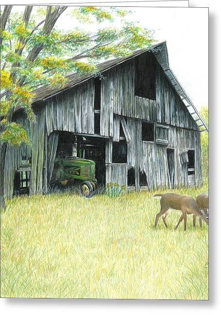 Tractors Greeting Cards - Forgotten Greeting Card by Carla Kurt