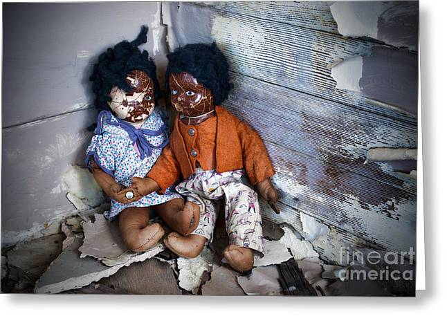 Best Sellers -  - Missing Child Greeting Cards - Forgotten Dolls Study III Greeting Card by Norma Warden