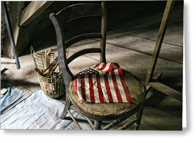 Western New York Greeting Cards - Forgotten Flag Greeting Card by Peter Chilelli