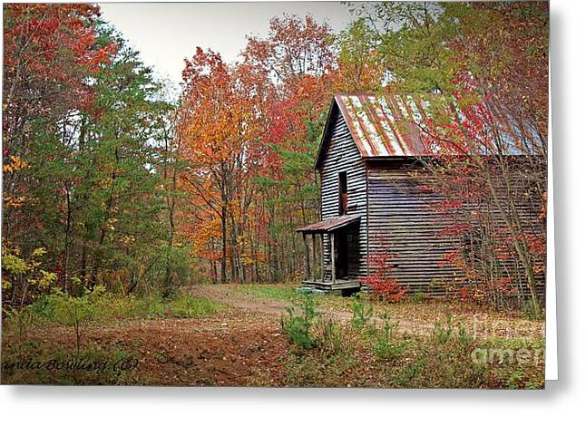 Grist Mill Greeting Cards - Forgotten Gristmill Greeting Card by Laurinda Bowling