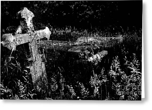 Forgotten Headstones Greeting Card by Darren Burroughs