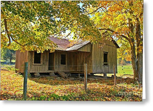 Photohraphy Greeting Cards - Forgotten Home Place Greeting Card by Laurinda Bowling