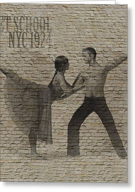 Dancer Art Greeting Cards - Forgotten Romance 2 Greeting Card by Naxart Studio