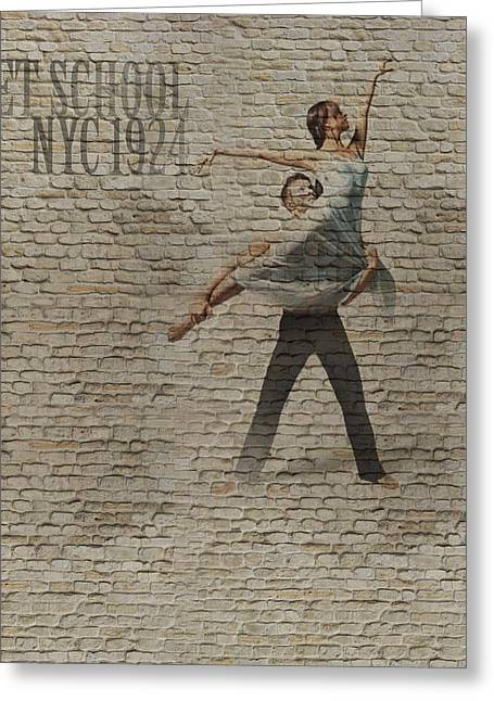Dancer Art Greeting Cards - Forgotten Romance 3 Greeting Card by Naxart Studio