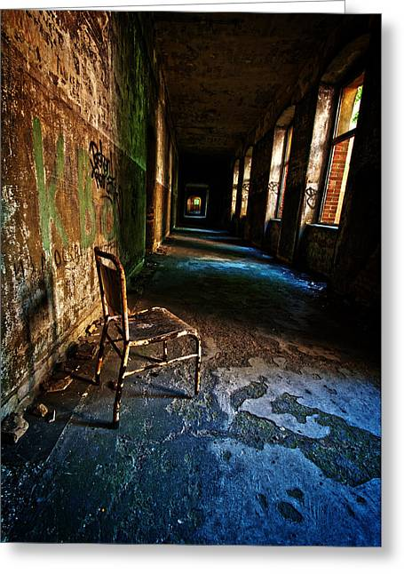 Bauwerk Greeting Cards - Forgotten seat. Greeting Card by Nathan Wright