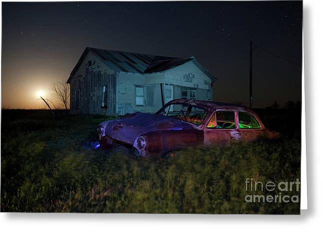 Night Photography Greeting Cards - Forgotten Texas Greeting Card by Keith Kapple