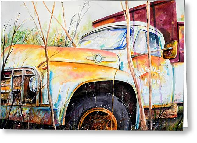 Scott Nelson And Son Paintings Greeting Cards - Forgotten Truck Greeting Card by Scott Nelson