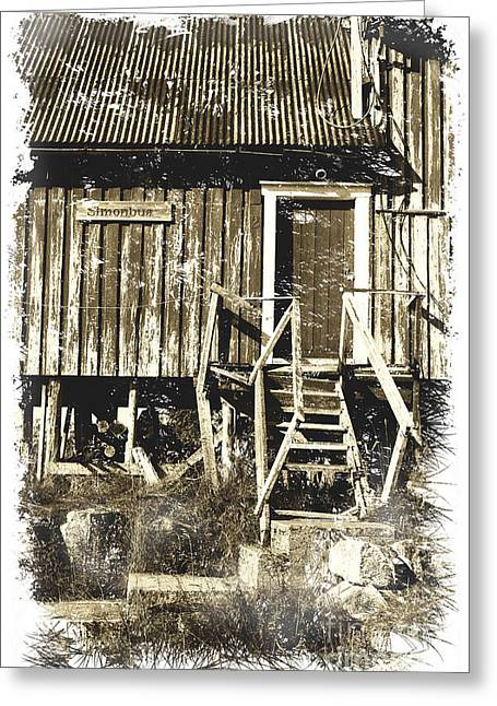 Wooden Shed Greeting Cards - Forgotten Wooden House Greeting Card by Heiko Koehrer-Wagner