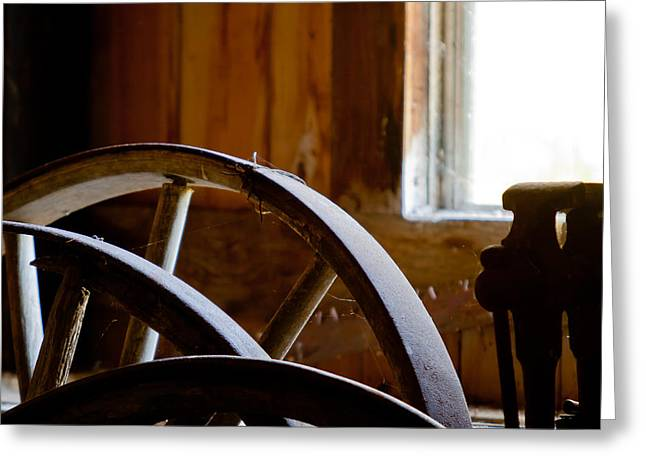 Old Western Photos Greeting Cards - Forgotten Workshop Greeting Card by Jim Finch