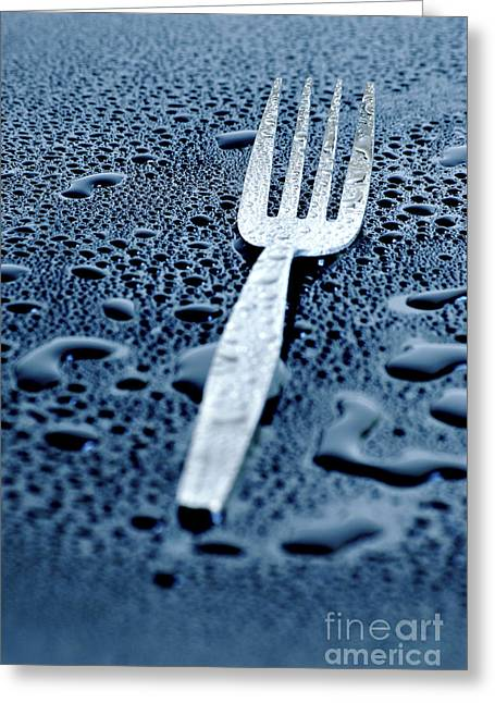 Droplet Greeting Cards - Fork Greeting Card by HD Connelly