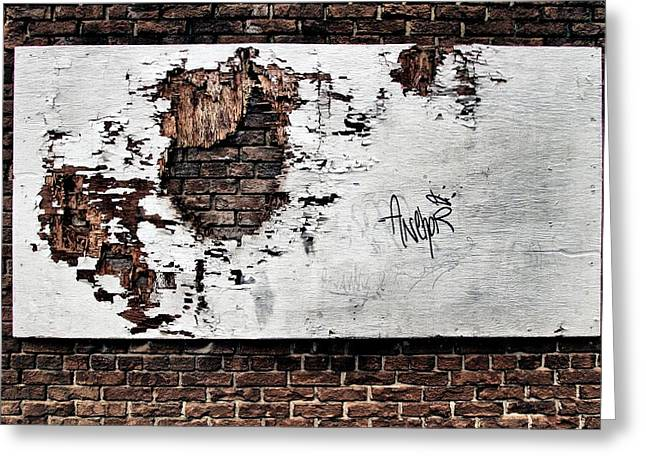 Hackney Greeting Cards - ...Forlorn and torn Greeting Card by Russell Styles