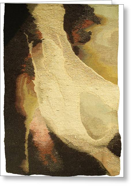 Weave Tapestries - Textiles Greeting Cards - Formation Greeting Card by Dora Stoilova Zlatan Stoilov