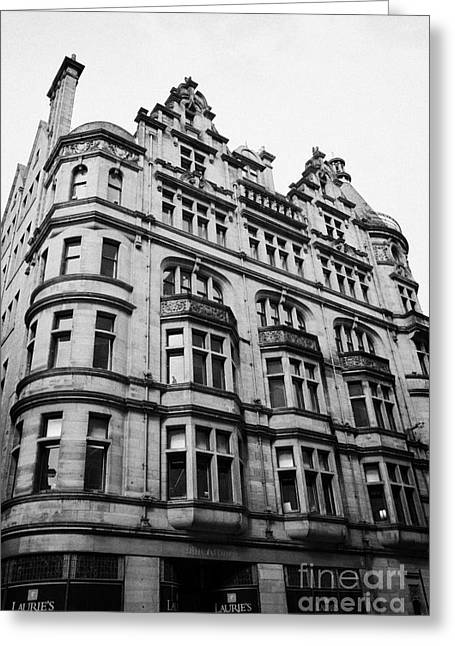Listed Building Greeting Cards - Former Norwich Union Chambers Building 127 129 Hope Street Glasgow Scotland Uk Greeting Card by Joe Fox